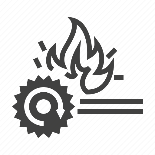 combustible, fire, flame, metal icon