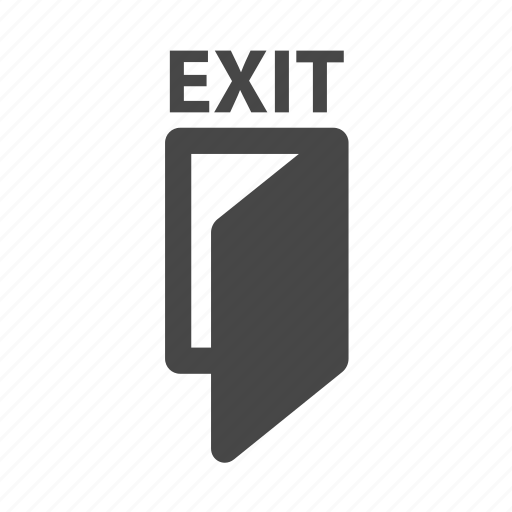 exit, logout, out icon