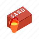 equipment, extinguish, fire, isometric, protection, red, security icon