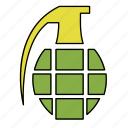 bomb, explode, explosion, explosive, grenade icon
