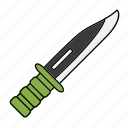 army, blade, knife, soldier, weapon icon