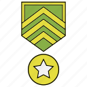 award, badge, medal, rank, trophy icon