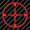 aim, bullseye, sniper, target icon