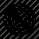 direction, gps, navigation, radar icon