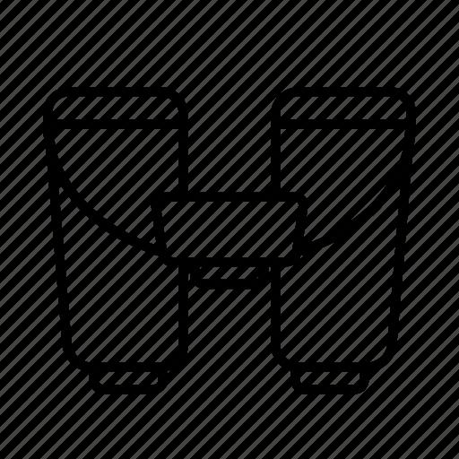 binocular, magnifying, view, zoom icon