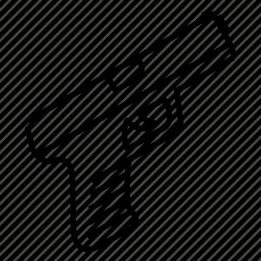 gun, handgun, pistol, weapon icon