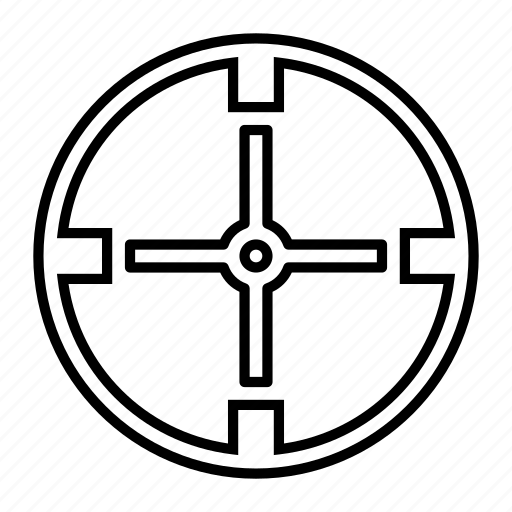 aim, bullseye, crosshair, target icon