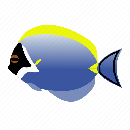 blue, fish, pet, power, tang icon