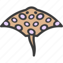 devilfish, fish, ray, stingray icon