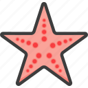 linckia, seastar, starfish icon
