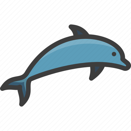 bottlenose, dolphin, dusky, spotted icon