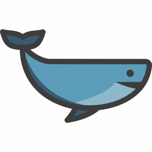 baleen, blue, cetacea, whale icon