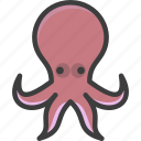 cephalopod, oceanic, octopus, seven arm icon