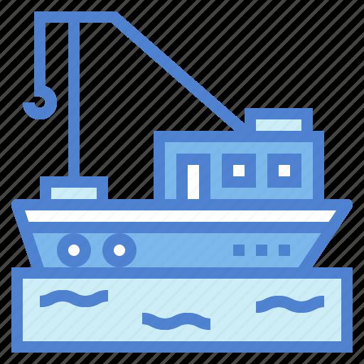 boat, fish, fishing, sailing, transportation icon