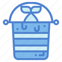 animals, bucket, fishes, food icon