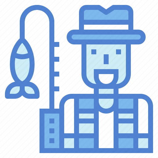 avatar, fisherman, jobs, profession icon