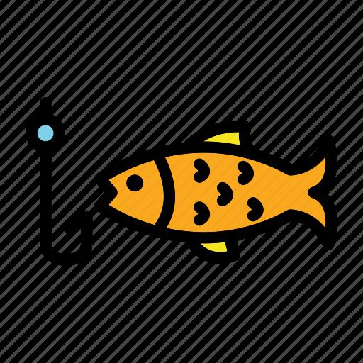 fish, fisherman, fishing, sport, water icon