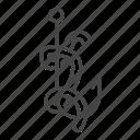 fish, fishing, rod, worm icon