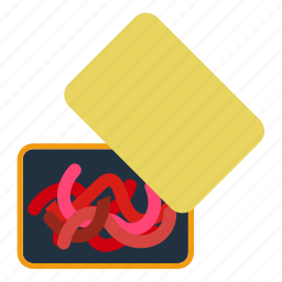 abstract, animal, background, bait, barb, bloodworm, box, business, cartoon, catch, color, container, cute, decoy, design, drawing, earthworm, equipment, fish, fisherman, fishing, flat, fun, hanging, heap, icon, illustration, insect, isolated, keep, leisure, logo, lure, maggots, nature, object, outdoor, recreation, sea, sign, single, sport, store, symbol, tackle, trap, ui, vector, water, worm icon