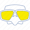 equipment, fishing, mask, scuba, snorkel, thin, underwater