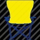 camping, cartoon, chair, equipment, fishing, folding, thin