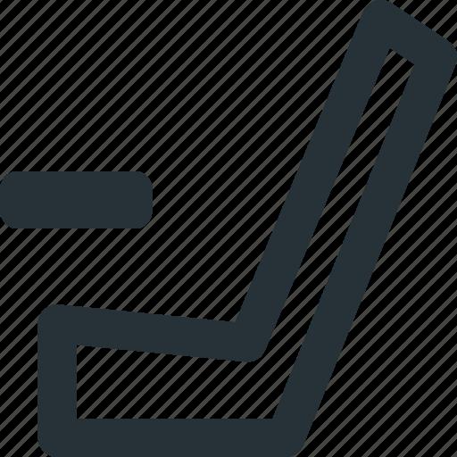 hockey, ice, sports, stick, tool icon
