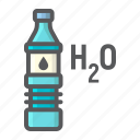 blue, bottle, drink, fitness, health, sport, water icon