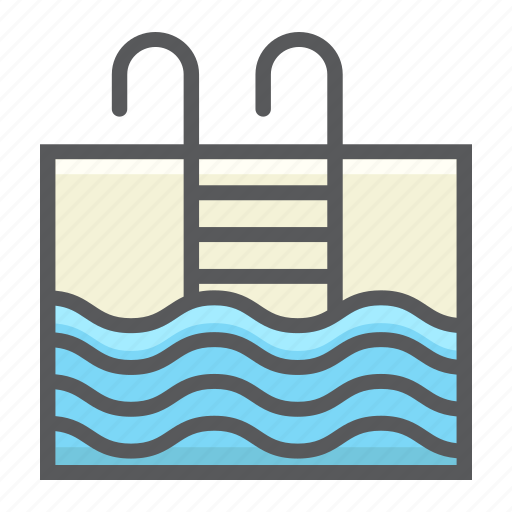 fitness, healthy, pool, sport, summer, swim, water icon