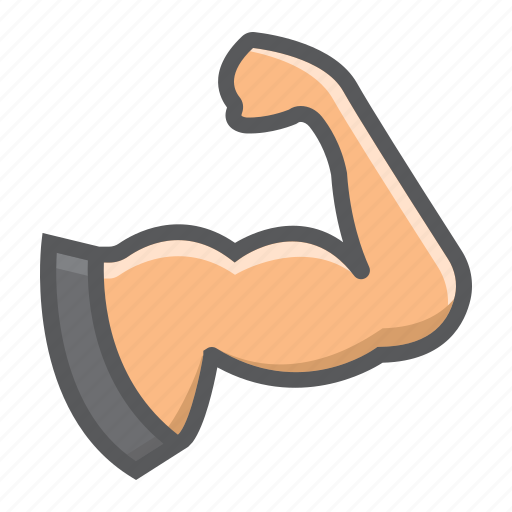 arm, biceps, bodybuilding, fitness, muscle, sport, strong icon