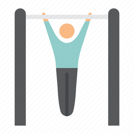exercise, fitness, man, pull, sport, up, workout icon