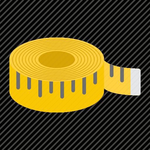 centimeter fitness length measure ruler size tape icon
