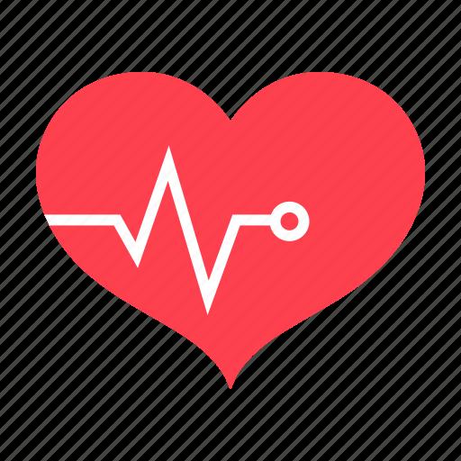 beat, cardio, ekq, fitness, heart, pulse, sport icon