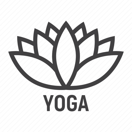 fitness, flower, health, leaf, lotus, yoga icon