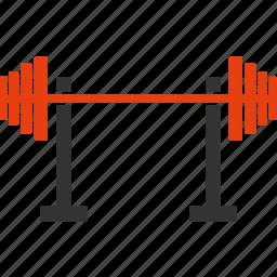 fitness, gym, rod, sports icon