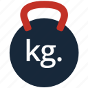 dumbbell, exercise, fitness, kettlebell, strength, training, weight icon