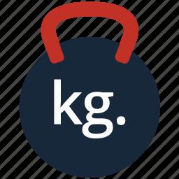 dumbbell, exercise, fitness, kettlebell, strength, training, weight icon