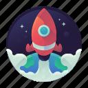 startup, rocket, space