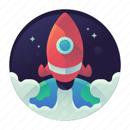 rocket, space, startup icon