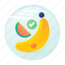 banana, diet, fitness, fruits, melon icon