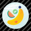 melon, fitness, banana, diet, fruits icon