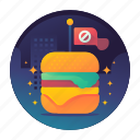 burger, diet, fitness, junk food icon