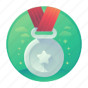 medal, medallion, star, winner icon