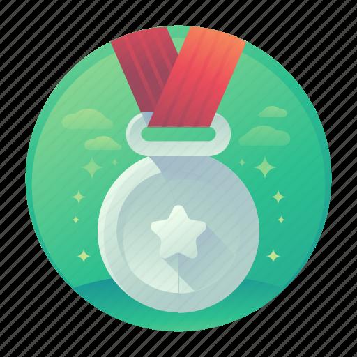 medal, medallion, star, winner icon