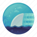 diving, fast, shark, swim, water icon