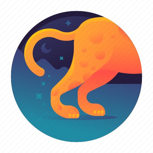 cheetah, fast, runner, running icon