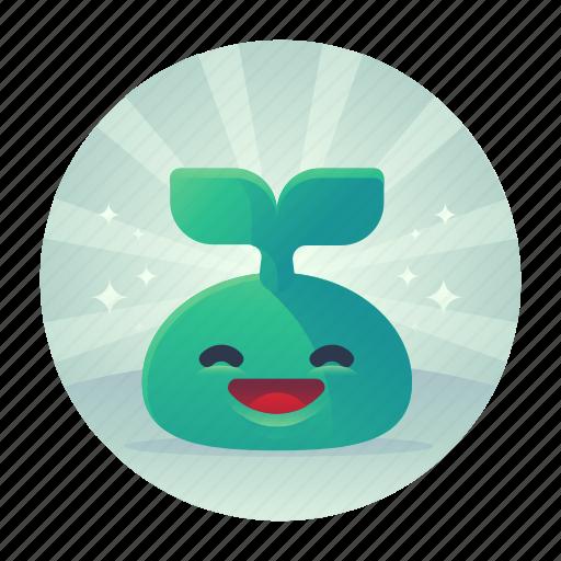 green, newbie, plant icon