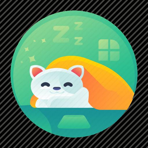 cat, nap, rest, sleep icon