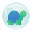 cute, gradient, slow, turtle