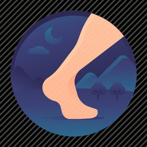bare foot, leg, walk, walking icon