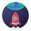 earth, space, space ship, startup, travel icon